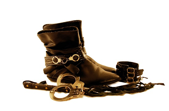Black leather and handcuffs