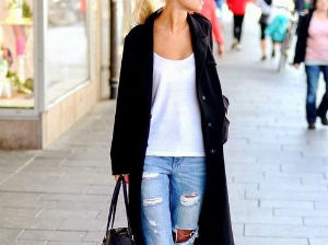Unos jeans boyfriend acompañados por unos buenos tacos, para lograr un look desenfadado. Gentileza Pinterest
